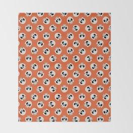 Cute Skulls (Orange) Throw Blanket