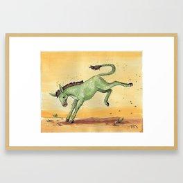 Cactus Jackass Framed Art Print