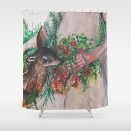 I'm healing with time Shower Curtain