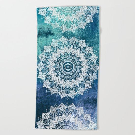 BOHOCHIC MANDALAS IN BLUE Beach Towel
