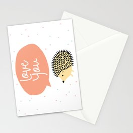 Hedgegog love Stationery Cards