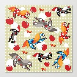 Паттерн с лошадками Canvas Print