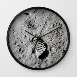 Apollo 11 - First Footprint On The Moon Wall Clock