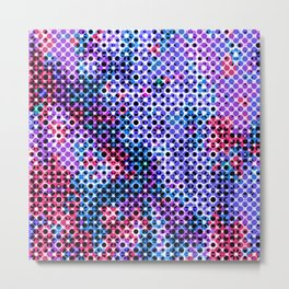 Abstract Mixed Media Series Dots 11 Metal Print