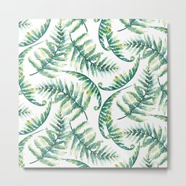 Woodland Ferns Metal Print