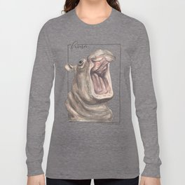 Fiona the Hippo - Happy Long Sleeve T-shirt