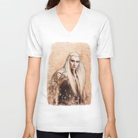 thranduil V-neck T-shirts featuring thranduil oropherion by LindaMarieAnson