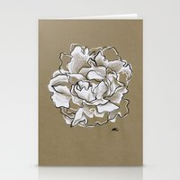 peony Stationery Cards featuring Peony by Mich Li