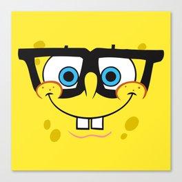 Spongebob Nerd Face Canvas Print