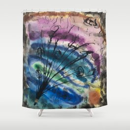 Colorful Abstract Bouquet Shower Curtain