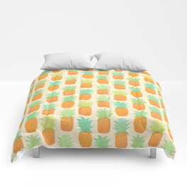 Watercolor Pineapples Comforters