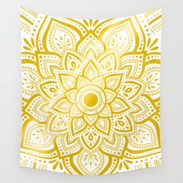 Pure Gold Wall Tapestry