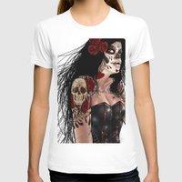 dia de los muertos T-shirts featuring Dia De Los Muertos  by Kris Chisholm