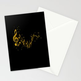 Notes In Gold With Beautiful Clef Gift Stationery Cards