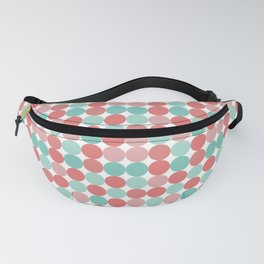 Cheerful Mini Dots in Coral Pink and Aqua Fanny Pack