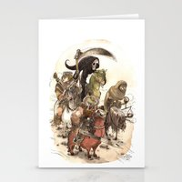 bouletcorp Stationery Cards featuring Four Horsemen by Bouletcorp
