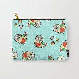 Pineapple Conure Heart Carry-All Pouch