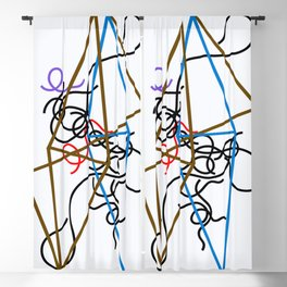 12,000pixel-500dpi - Sophie Taeuber-Arp - Octahedron-ss - Digital Remastered Edition Blackout Curtain