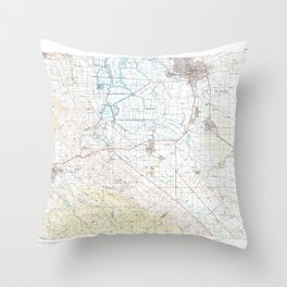 CA Stockton 299181 1989 topographic map Throw Pillow