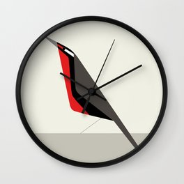 Loica chilena / Long-tailed meadowlark Wall Clock