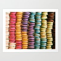 macarons Art Prints featuring Macarons by Jessica Giles