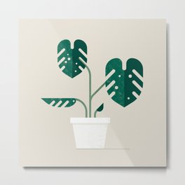 monstera deliciosa Metal Print