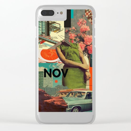NOVember Clear iPhone Case