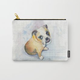 Sweet Bulldog Puppy Carry-All Pouch