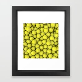 Tennis balls Framed Art Print