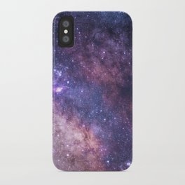 Purple Galaxy Star Travel iPhone Case