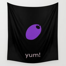 yum! olive Wall Tapestry