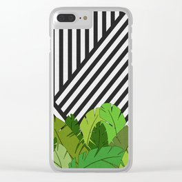 Green Direction Clear iPhone Case