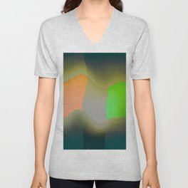 Green abstract Unisex V-Neck