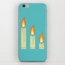 Cute Kawaii Candles iPhone Skin