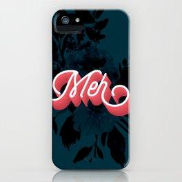 Meh floral artwork iPhone Case
