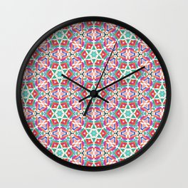 Watercolor Boho Dash 1 Wall Clock
