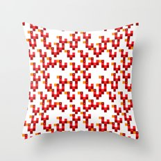 Pixel by pixel – Rooster Throw Pillow
