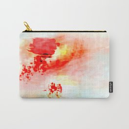 Red Dawning of a Long Journey Abstract Carry-All Pouch