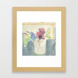 Flowers in Jar, 2 Framed Art Print