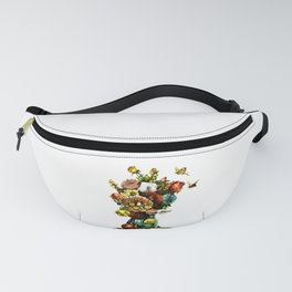Vintage Bouquet in Vase Design Fanny Pack