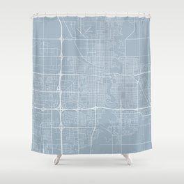 Fargo Map, USA - Slate Shower Curtain