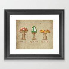 Mario Mycology Framed Art Print