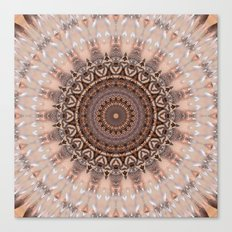 Mandala romantic pink Canvas Print