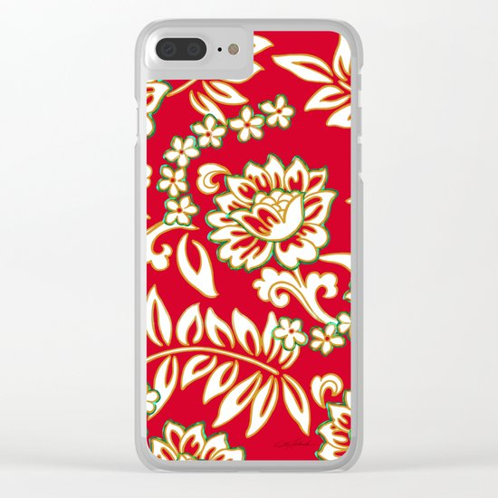 Tropical Eggnog Punch Clear iPhone Case