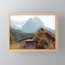 Cabin in the Alps Framed Mini Art Print