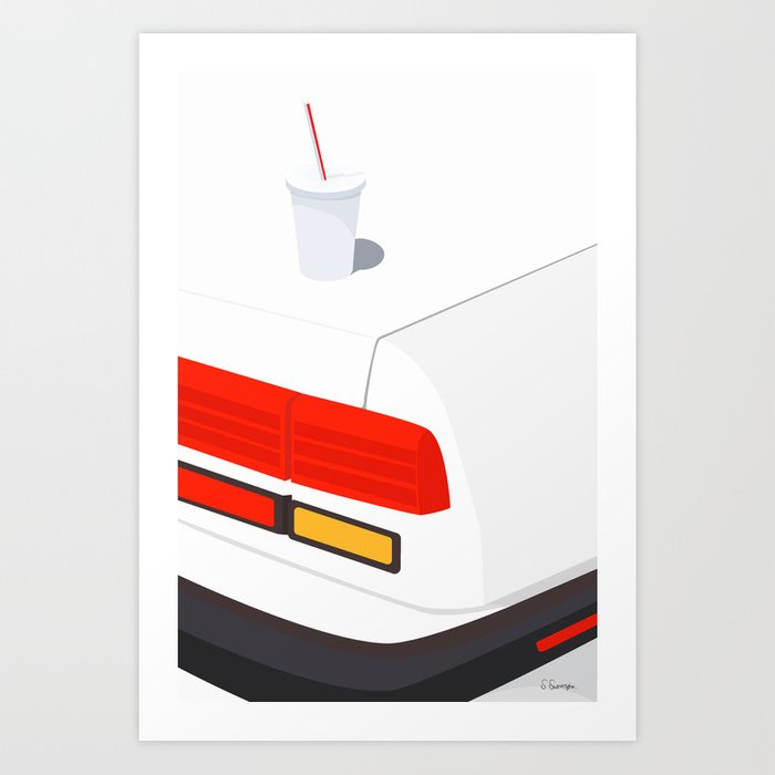 KRUS PÅ BIL Art Print