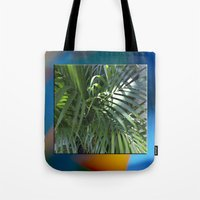 palm Tote Bags featuring palm by Hannah Siegfried