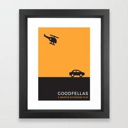 Goodfellas Minimalist poster Framed Art Print