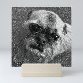 Gerty the Snow Dog Mini Art Print