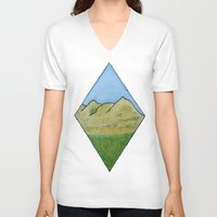 scotland V-neck T-shirts featuring Hills of Scotland by Hayley Lang